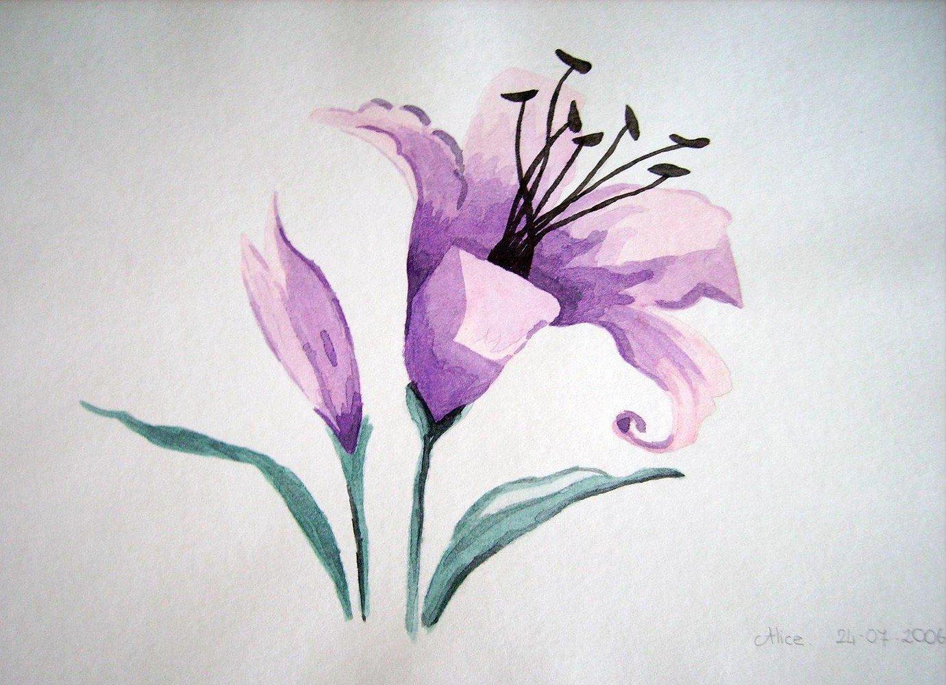 Fleur de Lys à l'aquarelle par Alice Gerfault
