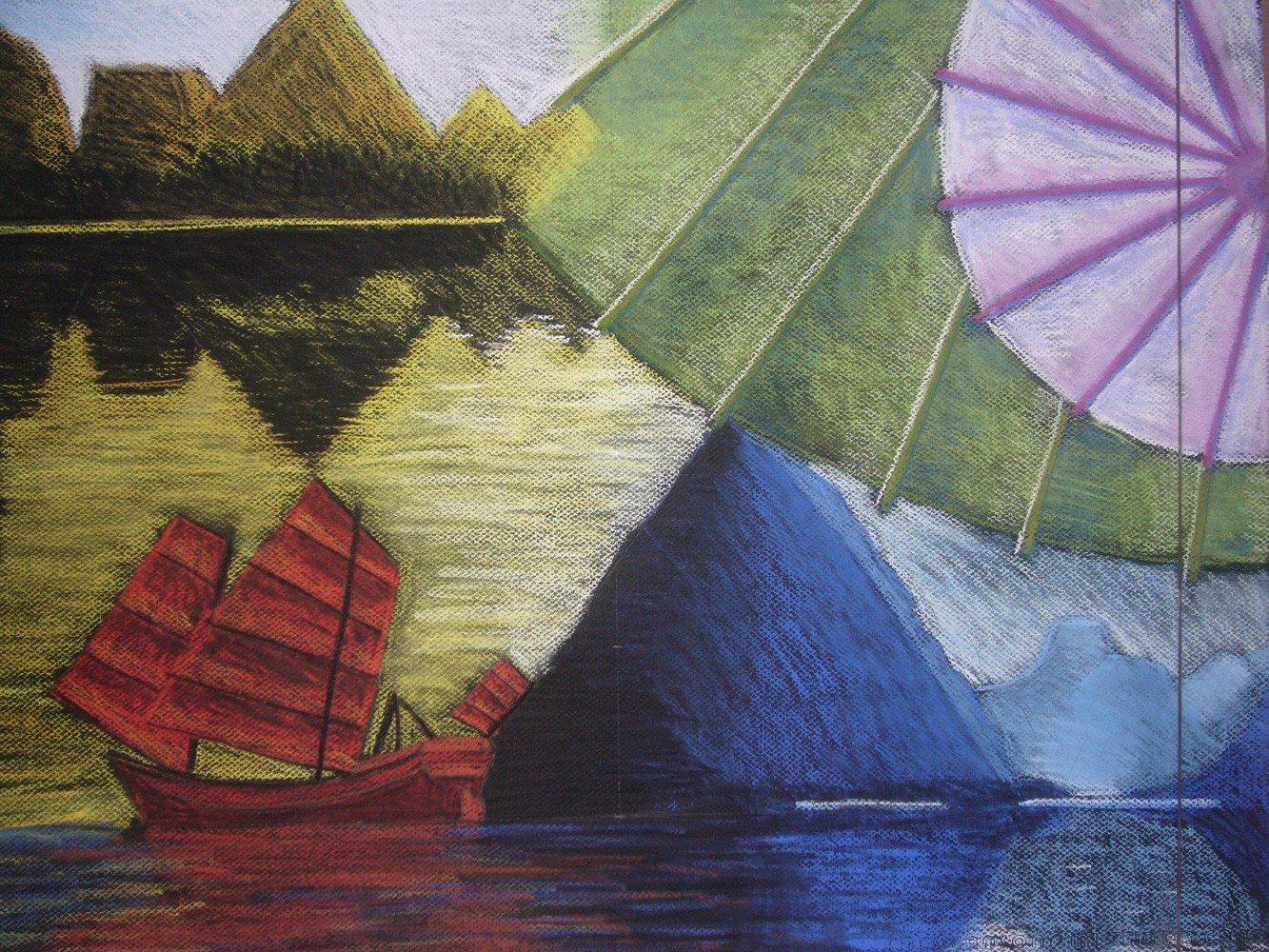 Projet Toffoli aux pastels secs par Alice Gerfault