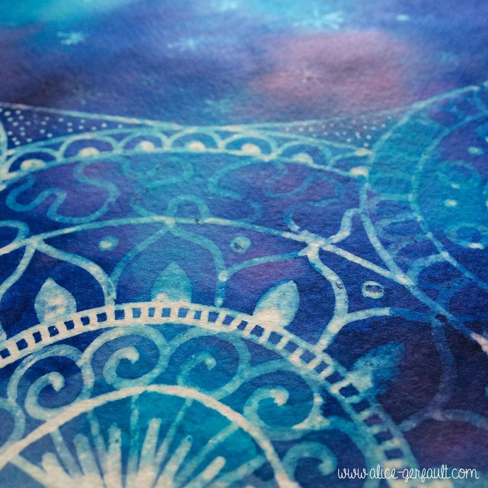 Détail Doodle Mandala Espace, par Alice Gerfault