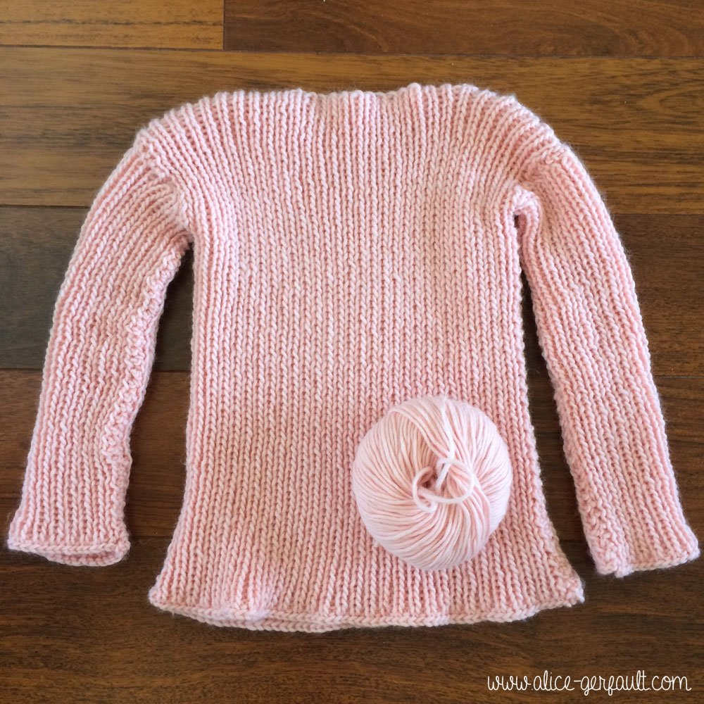Pull rose We are Knitters, tricot par Alice Gerfault