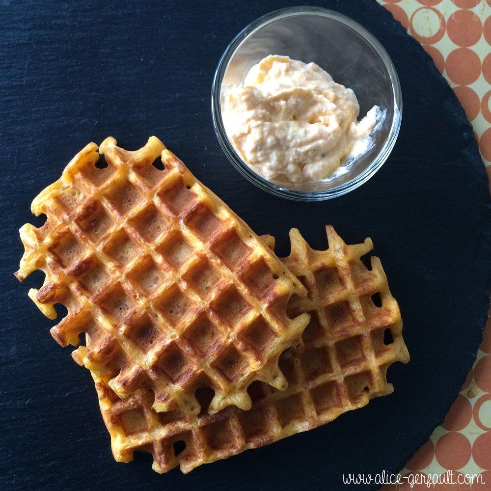 Gaufres à la patate douce, recette par Alice Gerfault