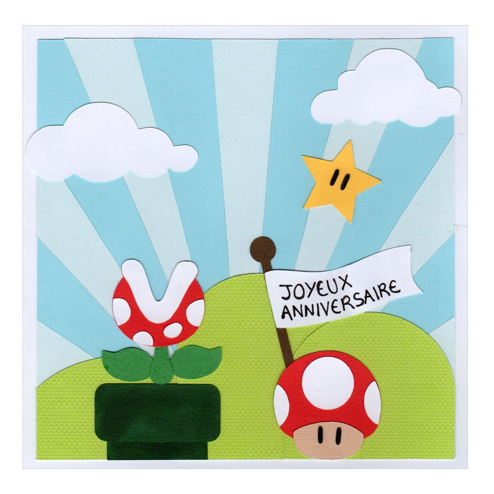 carte anniversaire enfant super mario land carte par. Black Bedroom Furniture Sets. Home Design Ideas