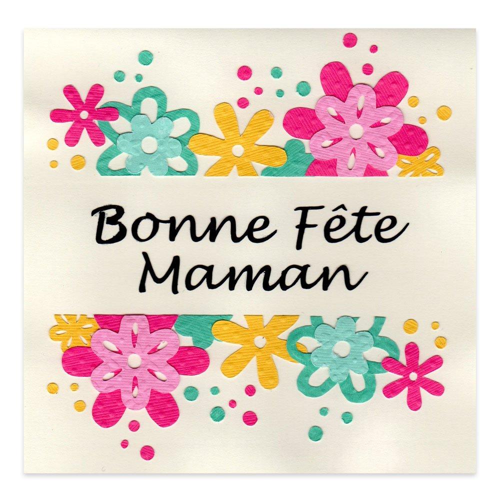 Carte f te des m res bonne f te maman fleurs alice gerfault - Image de carte de fete ...