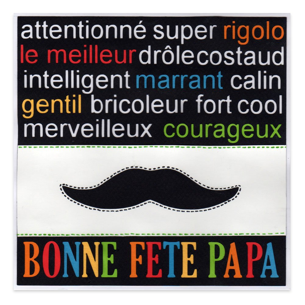 carte f te des p res bonne f te papa moustache alice gerfault. Black Bedroom Furniture Sets. Home Design Ideas