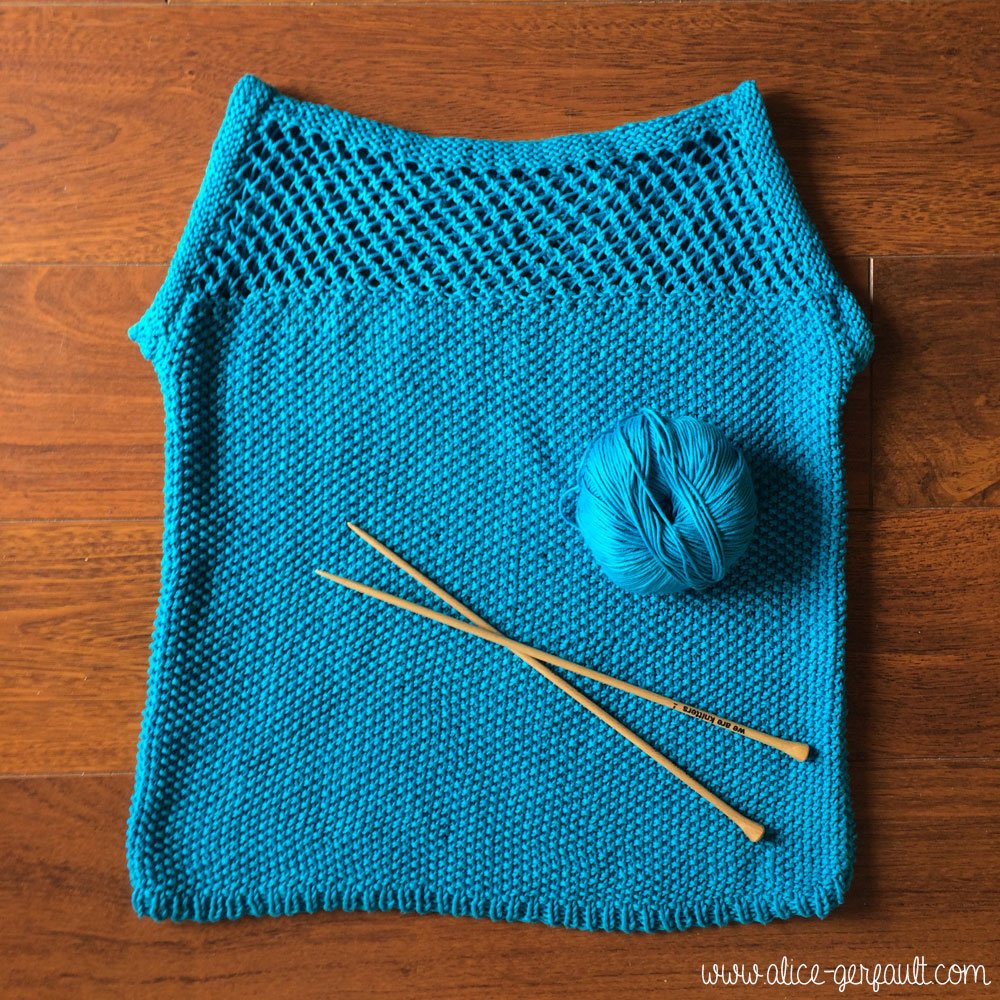 Juliet Tee We Are Knitters, tricot par Alice Gerfault