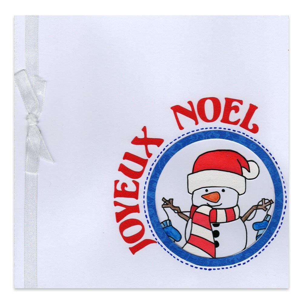 Carte Joyeux Noël Bonhomme de Neige - Alice Gerfault