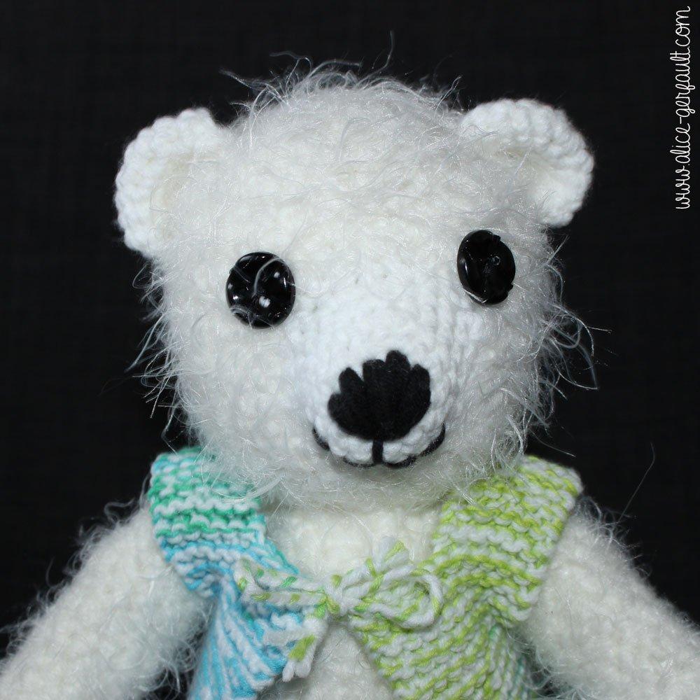 Nounours amugurumi, crochet par Alice Gerfault