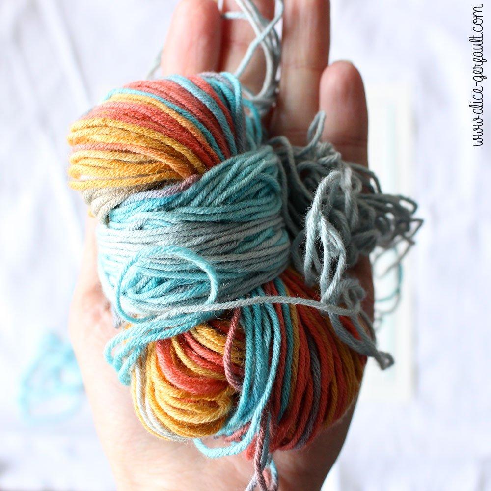 Fil coton Katia Candy utilisé pour le Cadre B comme Baptiste, DIY par Alice Gerfault
