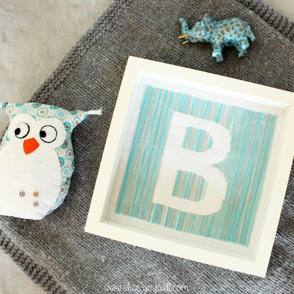 Cadre chambre de b b initiale diy par alice gerfault for Cadre pour chambre enfant