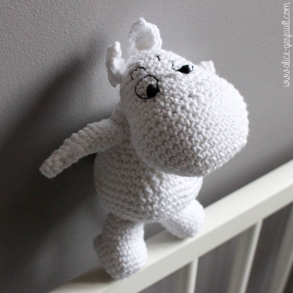 Amigurumi Crochet Japonais : Moumine au crochet, peluche ou amigurumi par Alice Gerfault
