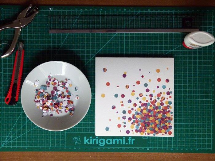 Réalisation carte anniversaire 30 ans confettis,carterie par Alice Gerfault