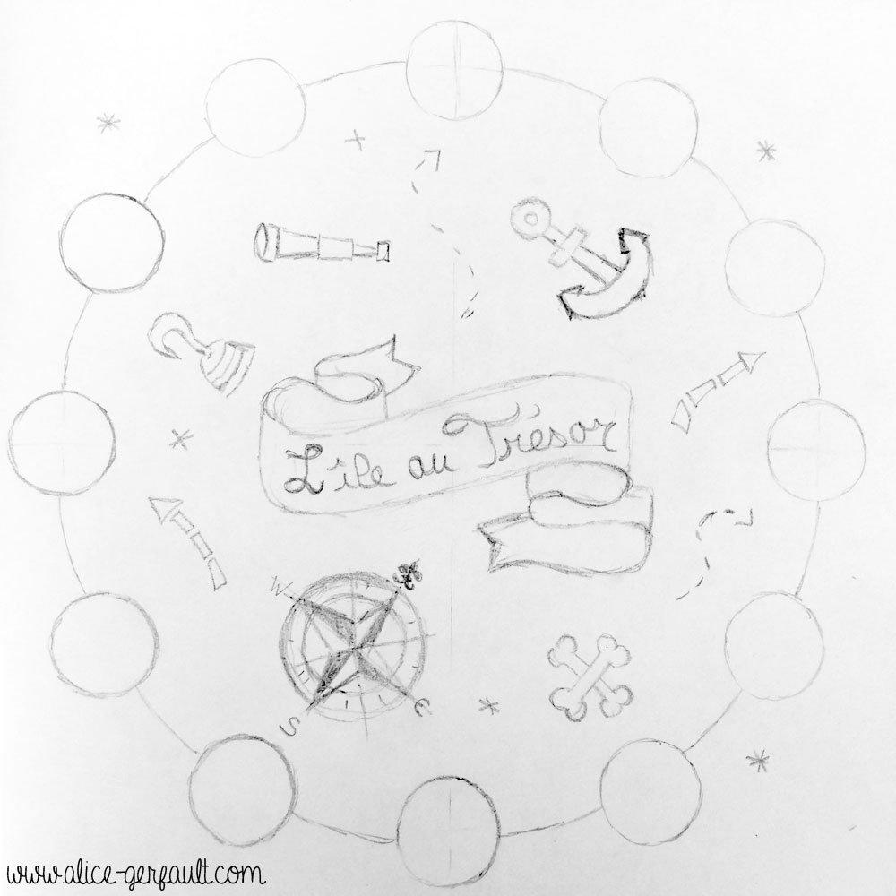 Boîte à jeu L'île au trésor, DIY par Alice Gerfault
