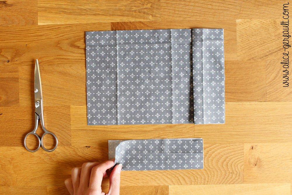Etui de passeport,étape 2 rabats, DIY par Alice Gerfault