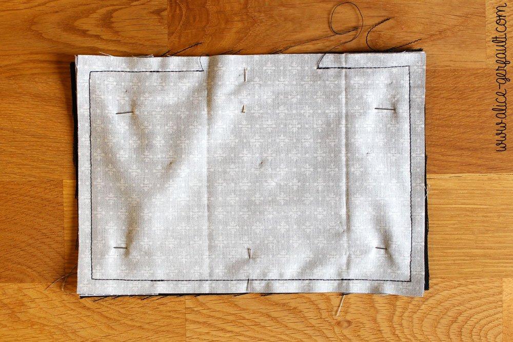 Etui de passeport,étape 5 couture, DIY par Alice Gerfault