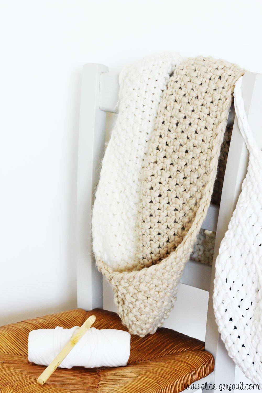 Panier suspendu au crochet, DIY par Alice Gerfault