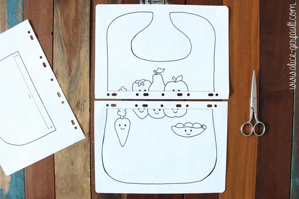 coudre un bavoir kawaii avec poche de recueil diy par alice gerfault. Black Bedroom Furniture Sets. Home Design Ideas