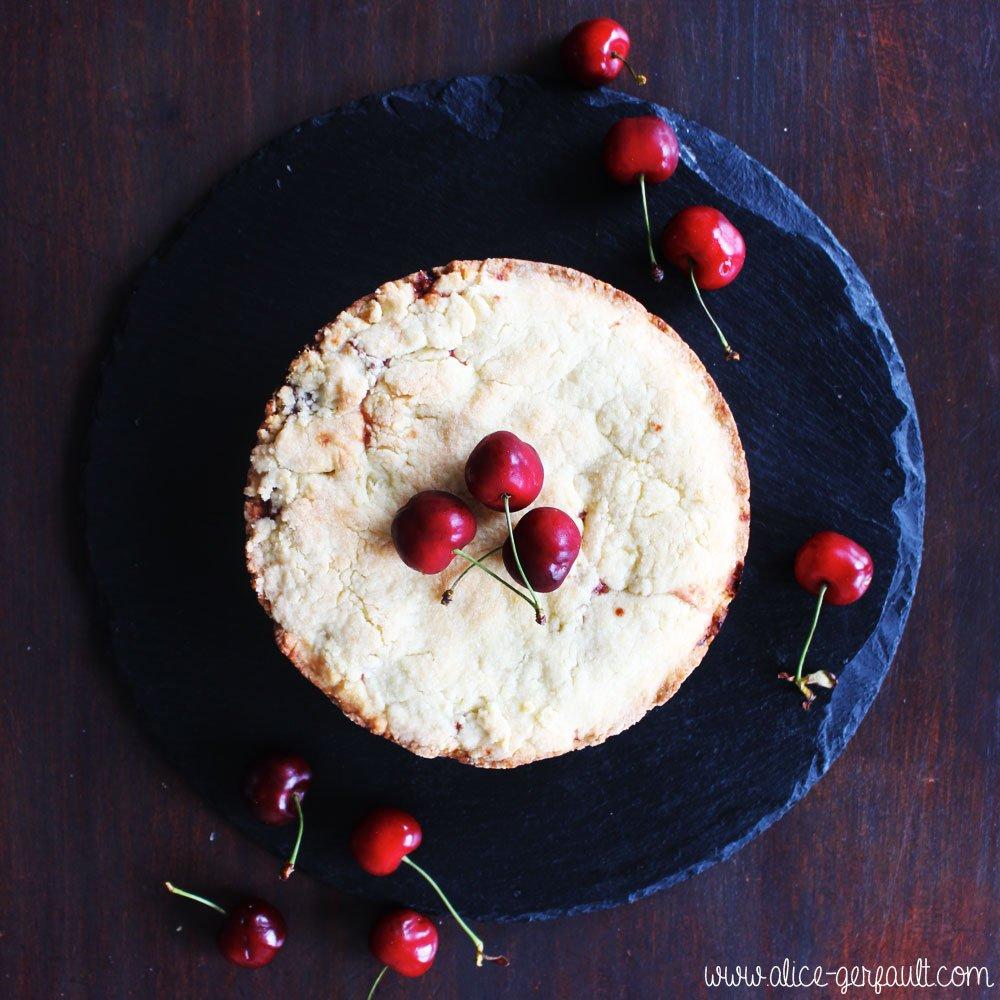 Gâteau basque aux cerises, Recette par Alice Gerfault