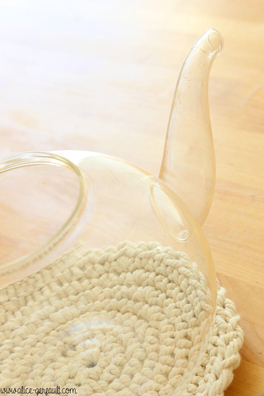 Dessous de plat au crochet, DIY par Alice Gerfault
