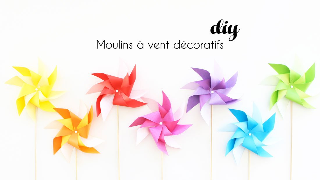 moulin vent d coratif en papier diy par alice gerfault. Black Bedroom Furniture Sets. Home Design Ideas