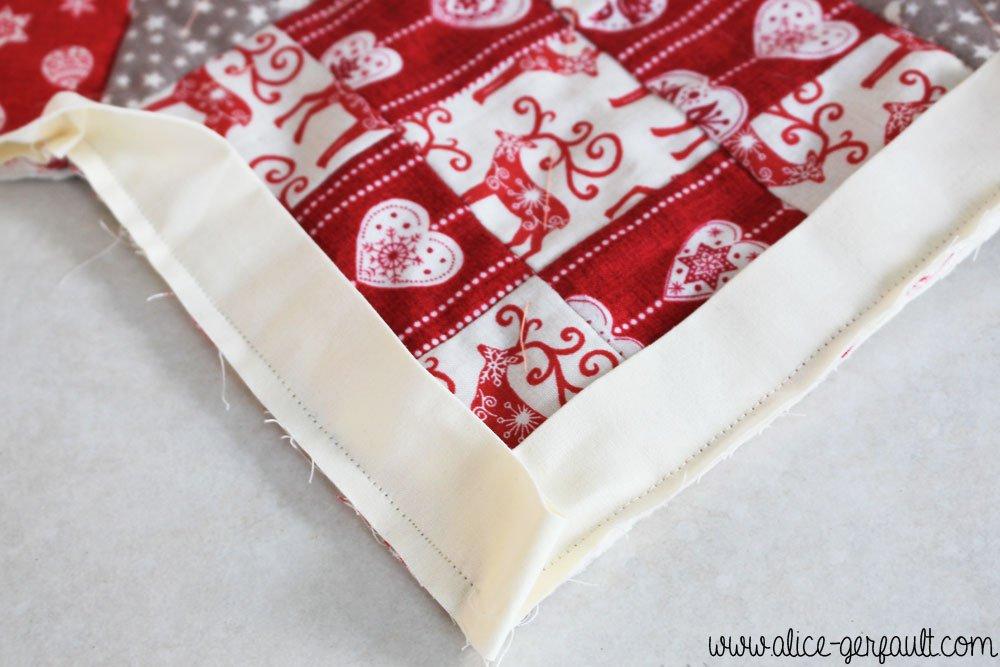 Jupe de sapin au patchwork, DIY par Alice Gerfault