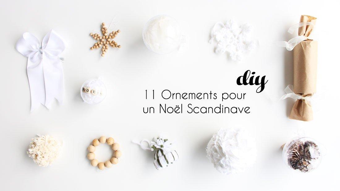 Ornement Sapin De Noel Ornements de Noël pour un sapin scandinave, DIY par Alice Gerfault