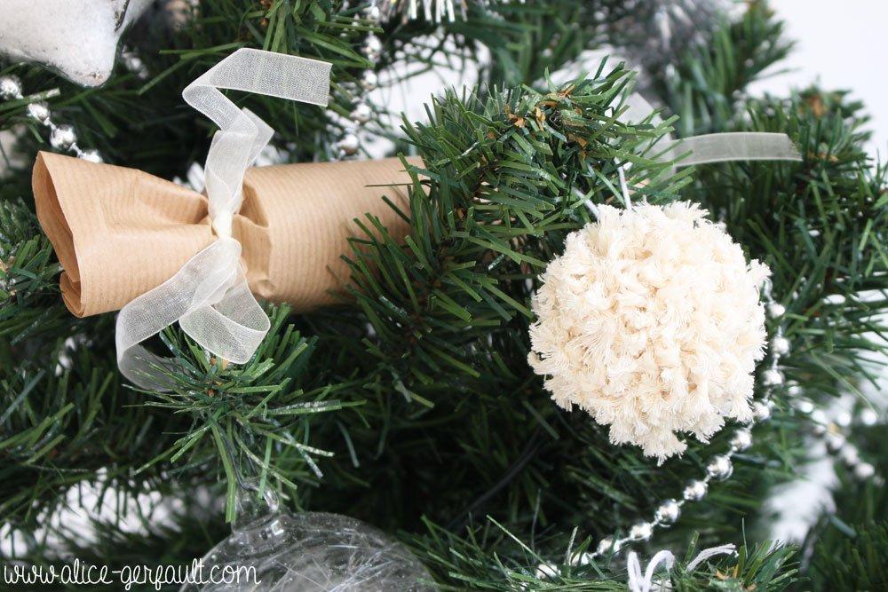 Ornements de Noël pour un sapin scandinave, DIY par Alice Gerfault