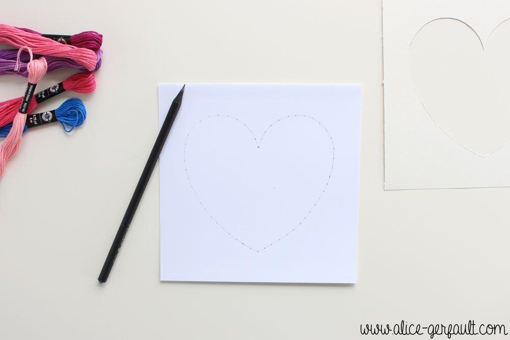 Cadre Saint Valentin Brodeuse, DIY par Alice Gerfault