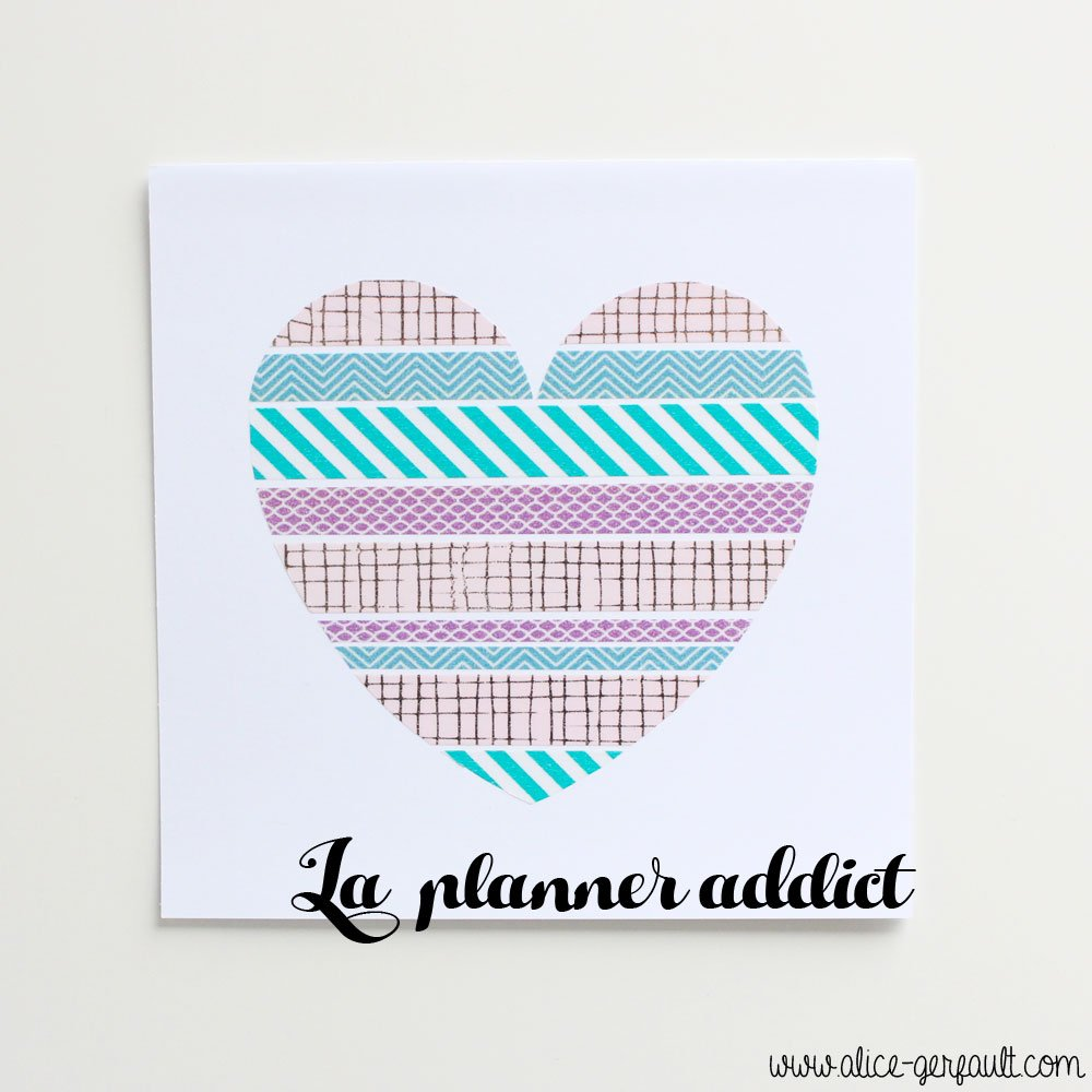 Cadre Saint Valentin Planner Addict, DIY par Alice Gerfault