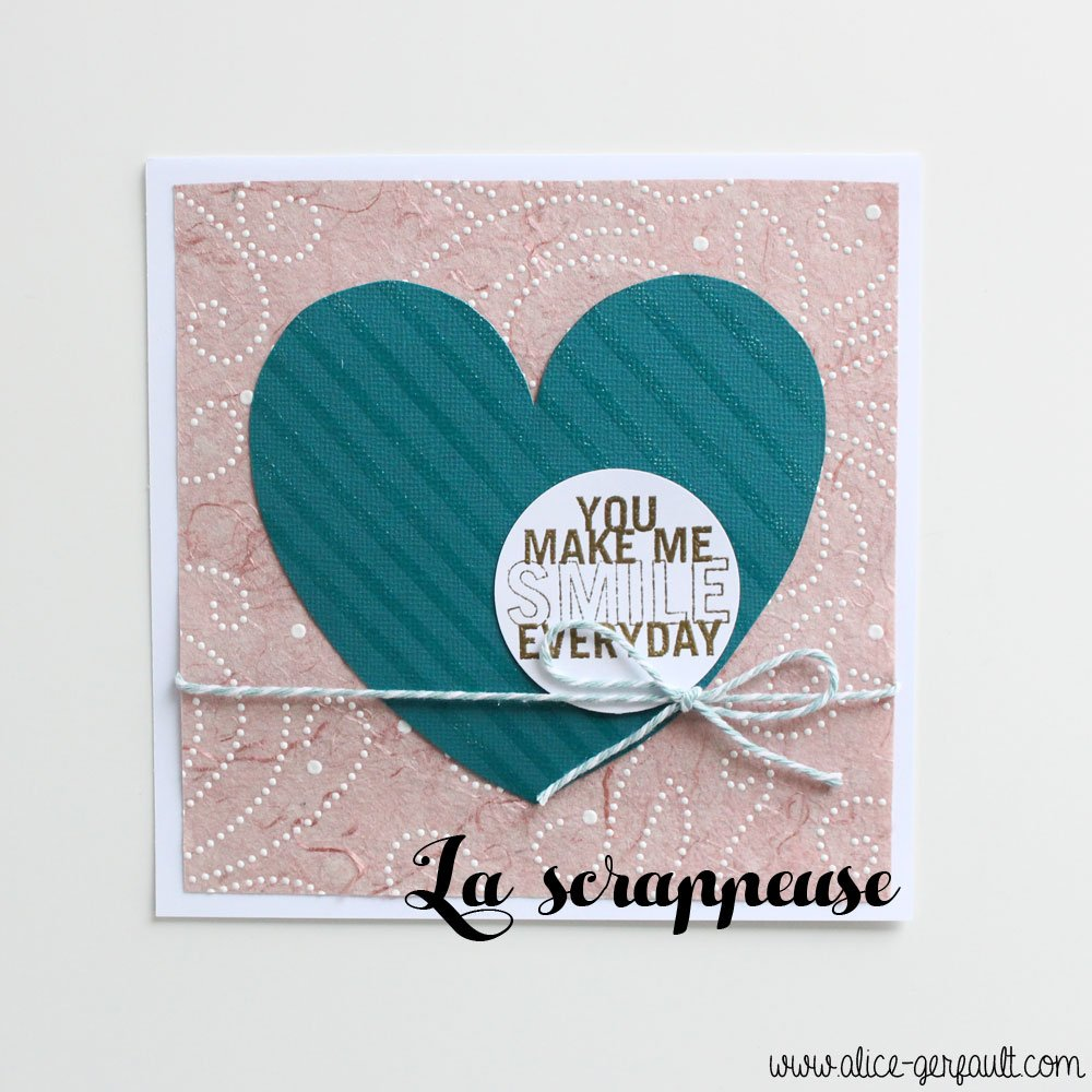Cadre Saint Valentin Scrappeuse, DIY par Alice Gerfault
