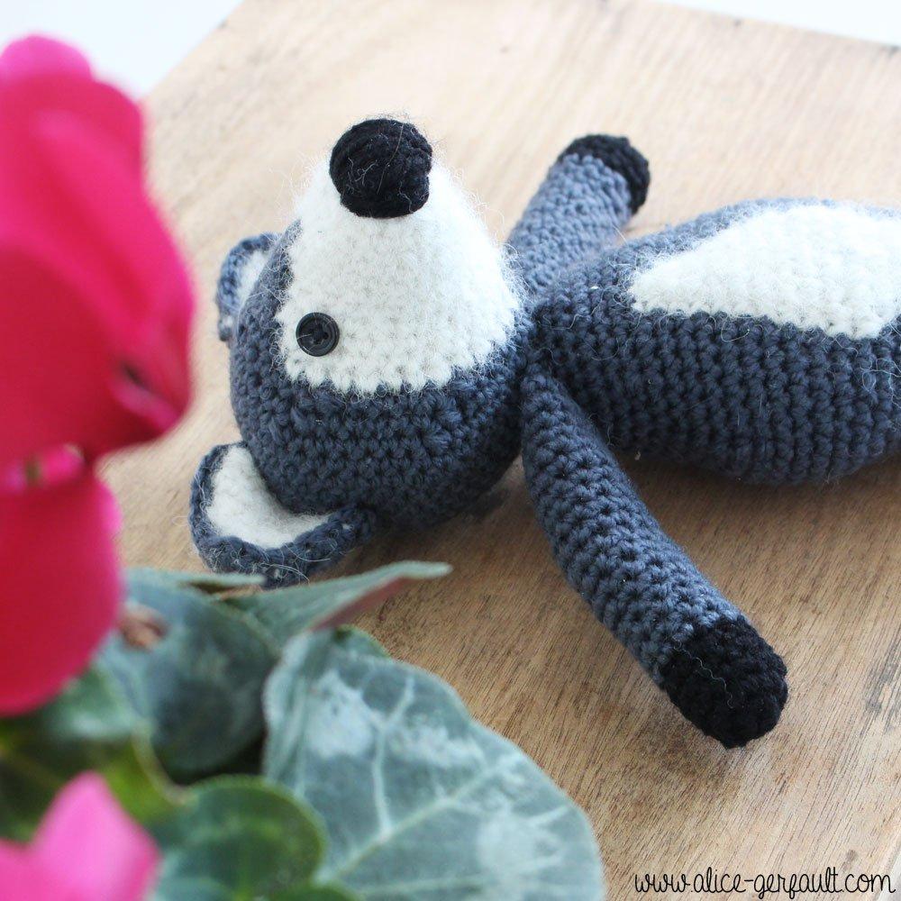 Amigurumi Loup au crochet, DIY par Alice Gerfault
