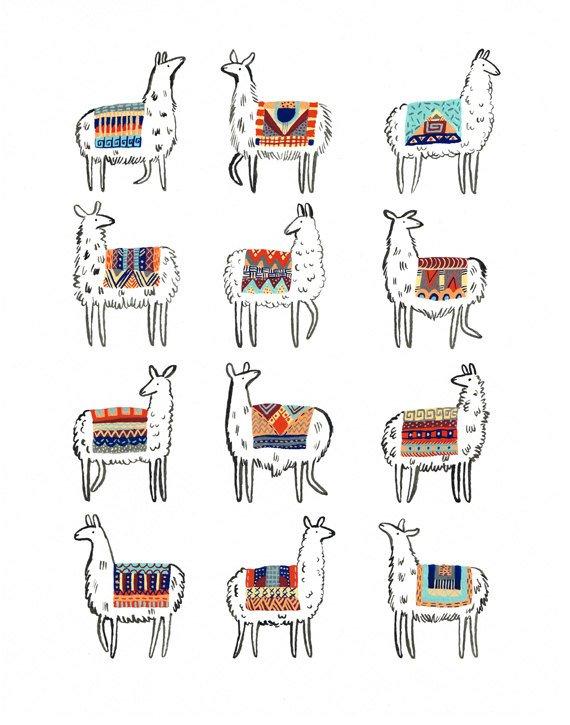 Illustration Lama, inspiration Cadre Lama avec Tissage, DIY par Alice Gerfault