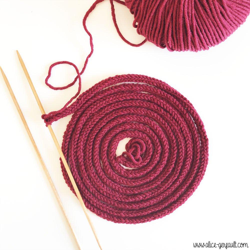 Anse i-cord pour sac Granny square au crochet, DIY par Alice Gerfault