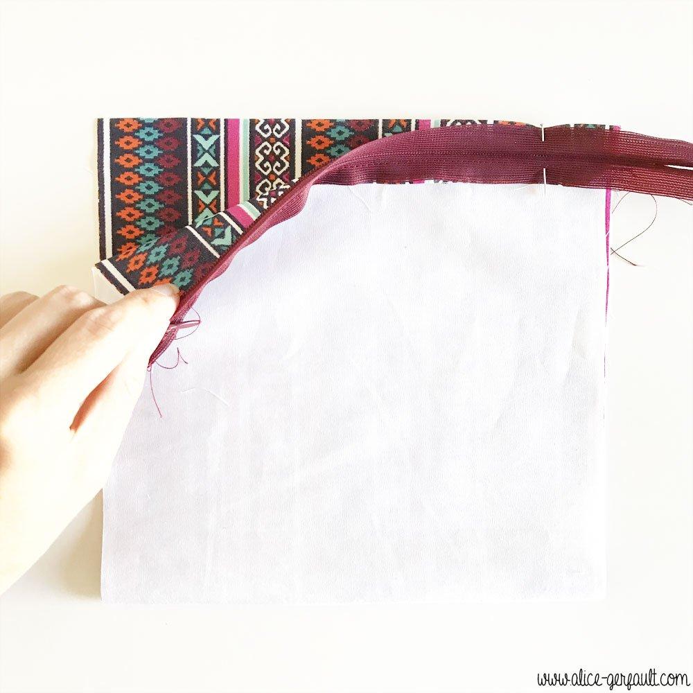 Doublure pour sac Granny Square, DIY par Alice Gerfault