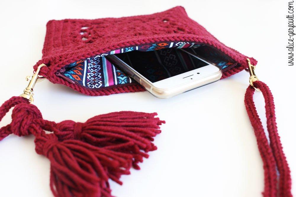 Sac Granny square au crochet, DIY par Alice Gerfault