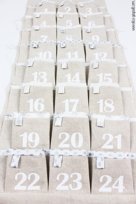 calendrier de l 39 avent en tissu diy by alice gerfault. Black Bedroom Furniture Sets. Home Design Ideas