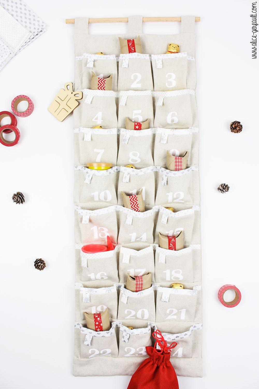 Calendrier de l'avent en couture, DIY by Alice Gerfault