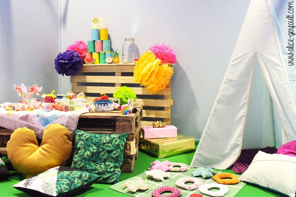 Creativa Nantes 2018, Vitrine anniversaire, DIY by Alice Gerfault