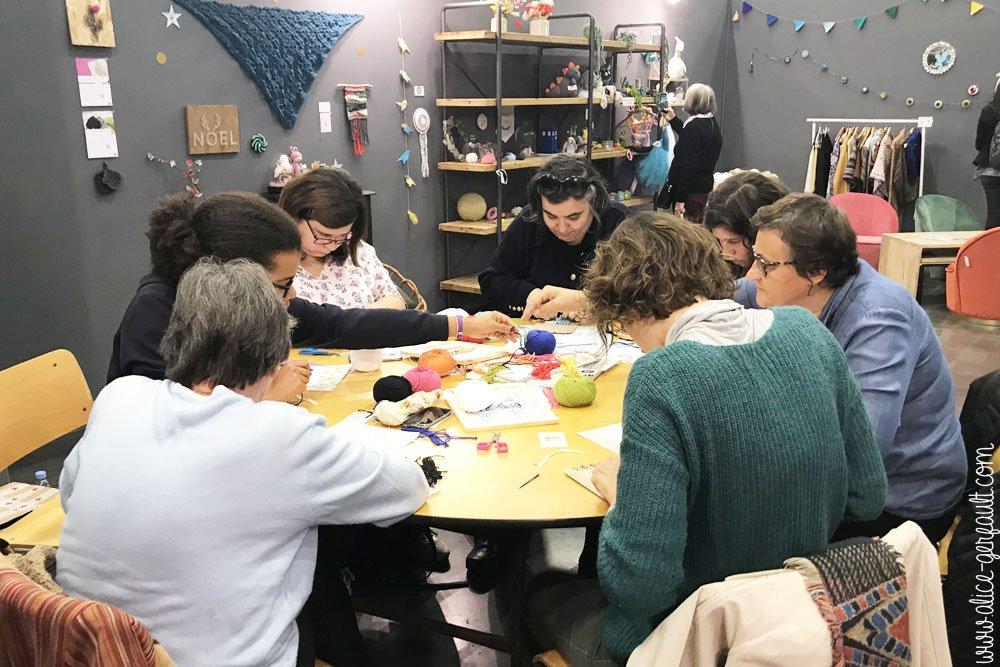 Creativa Nantes 2018, Atelier Cadre lama, DIY by Alice Gerfault