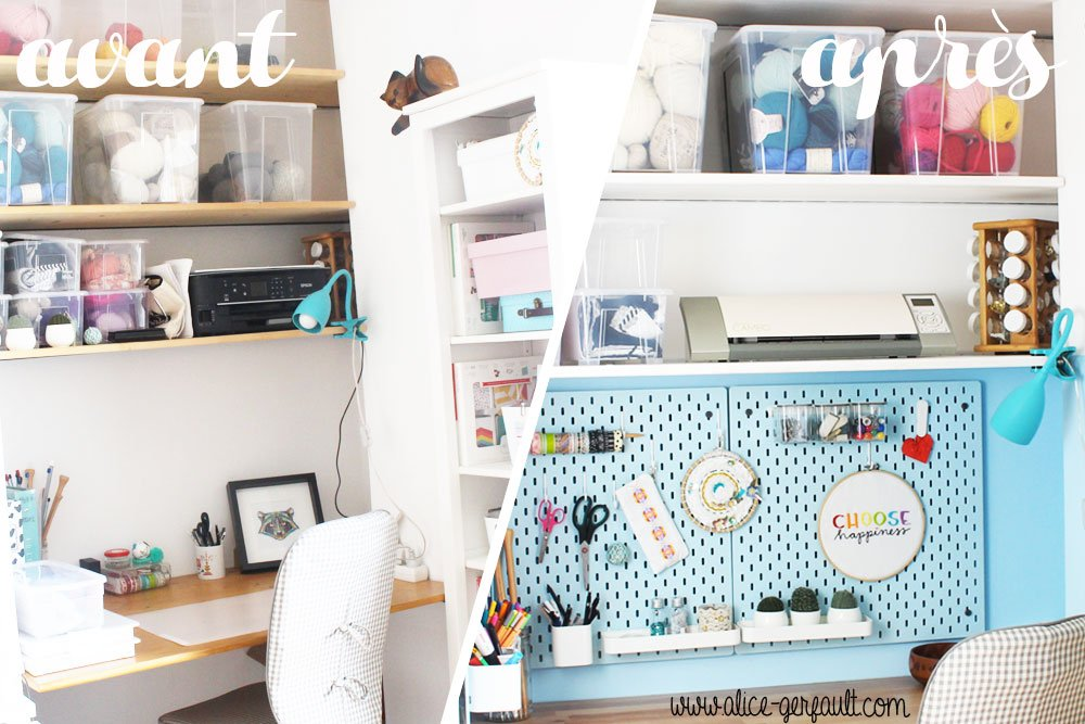 j'ai relooké mon bureau (craft desk tour), DIY by Alice Gerfault