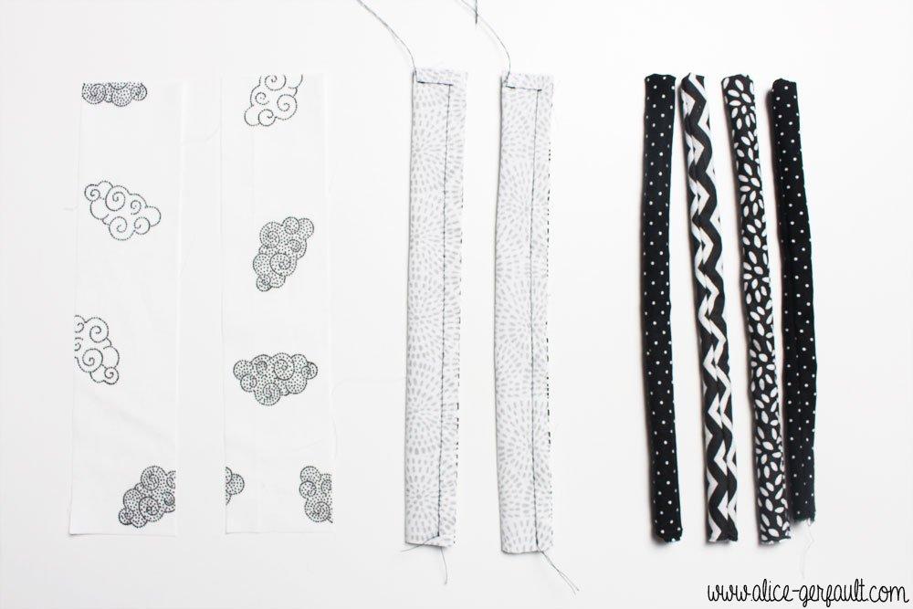 Languettes pour Tapis d'éveil sensoriel Montessori, DIY par Alice Gerfault