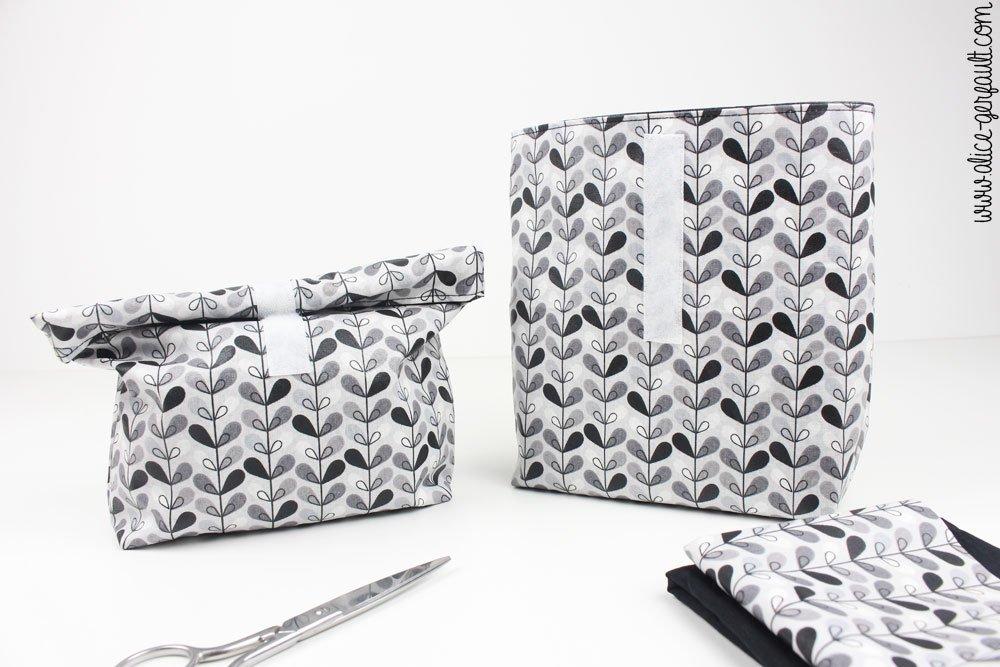 Mini lunchbag en coton enduit, DIY cadeau de maîtresse, Alice Gerfault