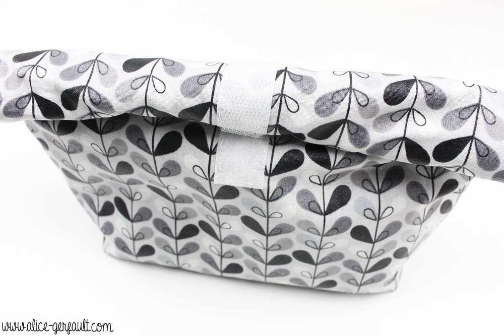 Mini lunchbag fermé en coton enduit, DIY cadeau de maîtresse, Alice Gerfault