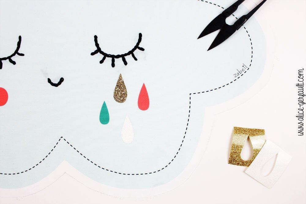 J'ai testé le kit Coussin Nuage par Zabeil, DIY Alice Gerfault