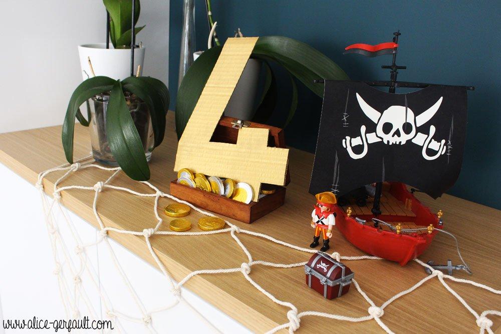 Déco Anniversaire Pirate, DIY Alice Gerfault