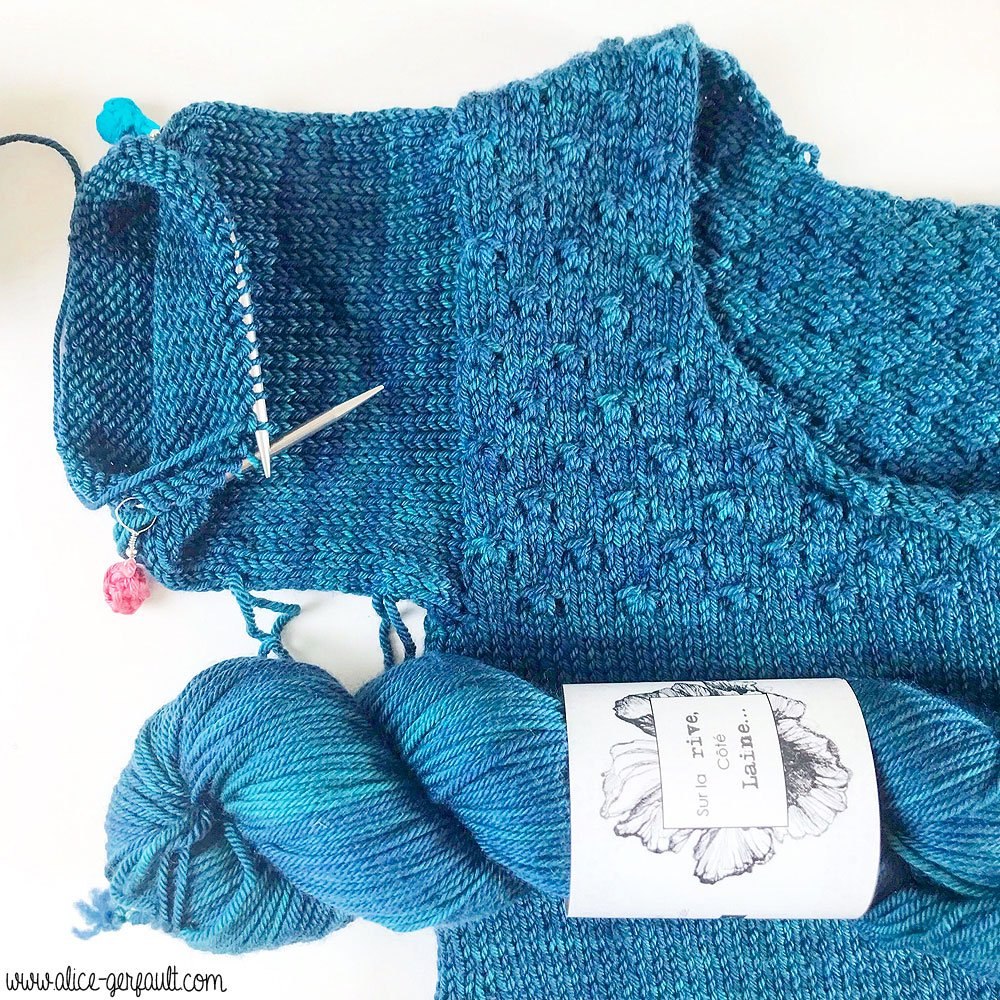 Journal Créatif / Podcast Tricot , Episode #2, pull Carson DIY Alice Gerfault