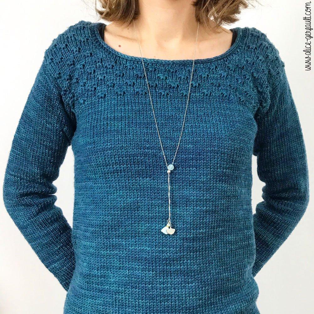 Collier Fifijolipois et pull Carson au tricot, Journal Créatif #4, DIY by Alice Gerfault