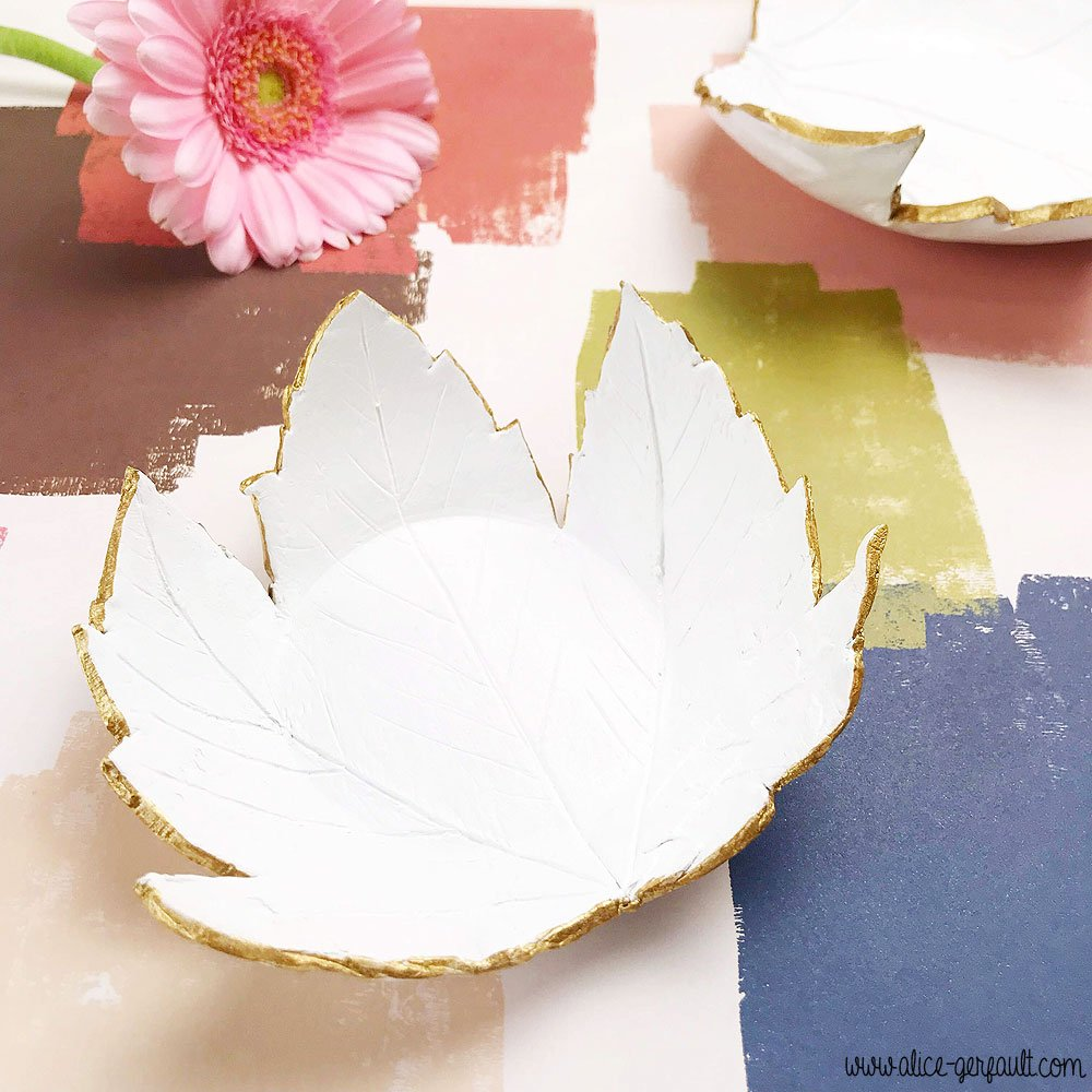 Coupelle Feuille en Fimo, Journal Créatif #4, DIY by Alice Gerfault