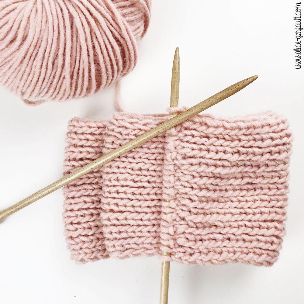 Echarpe pour débutant au tricot, Journal Créatif #4, DIY by Alice Gerfault