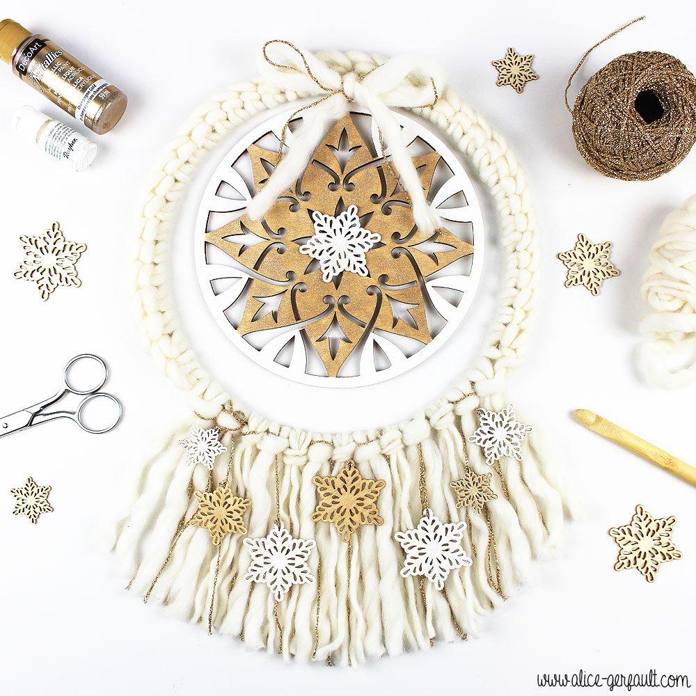 Couronne de Noël Boho, DIY par Alice Gerfault