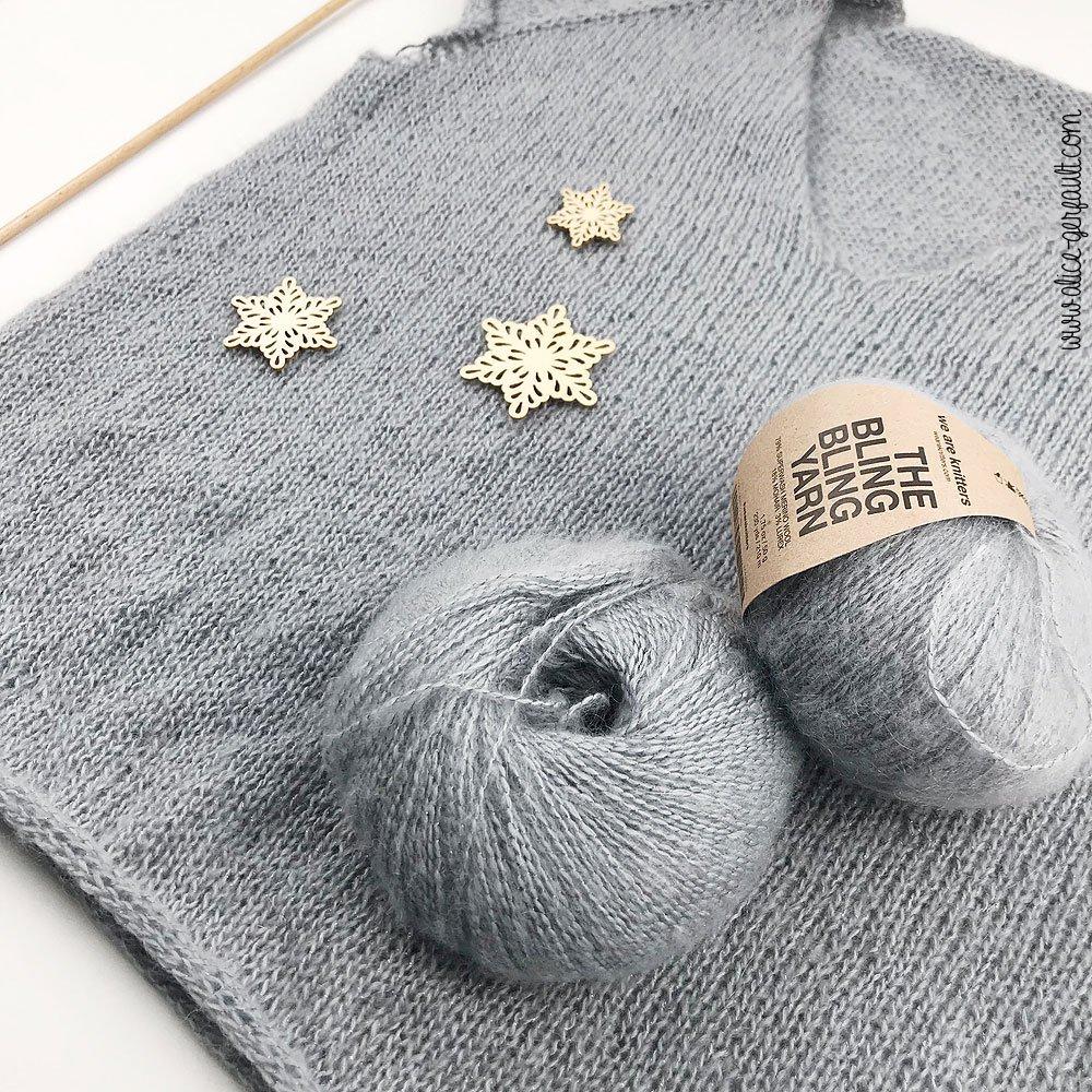Pull Cumulus Blouse au tricot, Journal Créatif #4, DIY by Alice Gerfault
